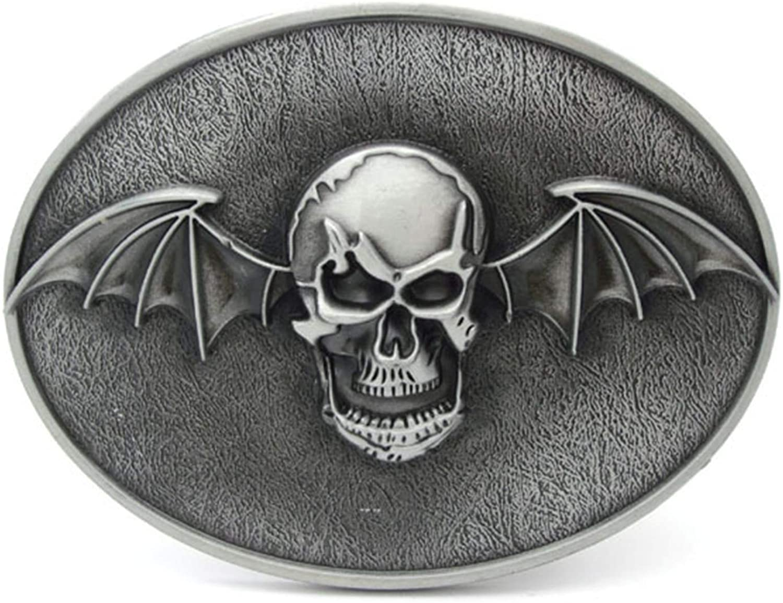 Gothic Bat Skull Belt Buckle