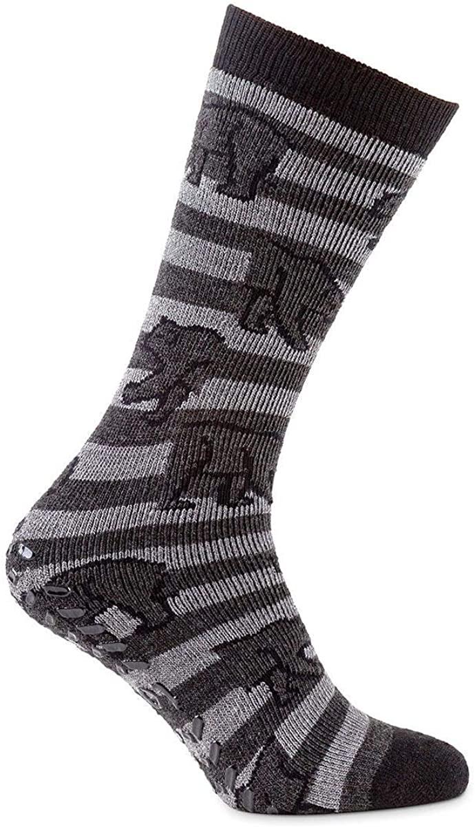 Totes Men Original Novelty Slipper Socks with Grip Pack of 1