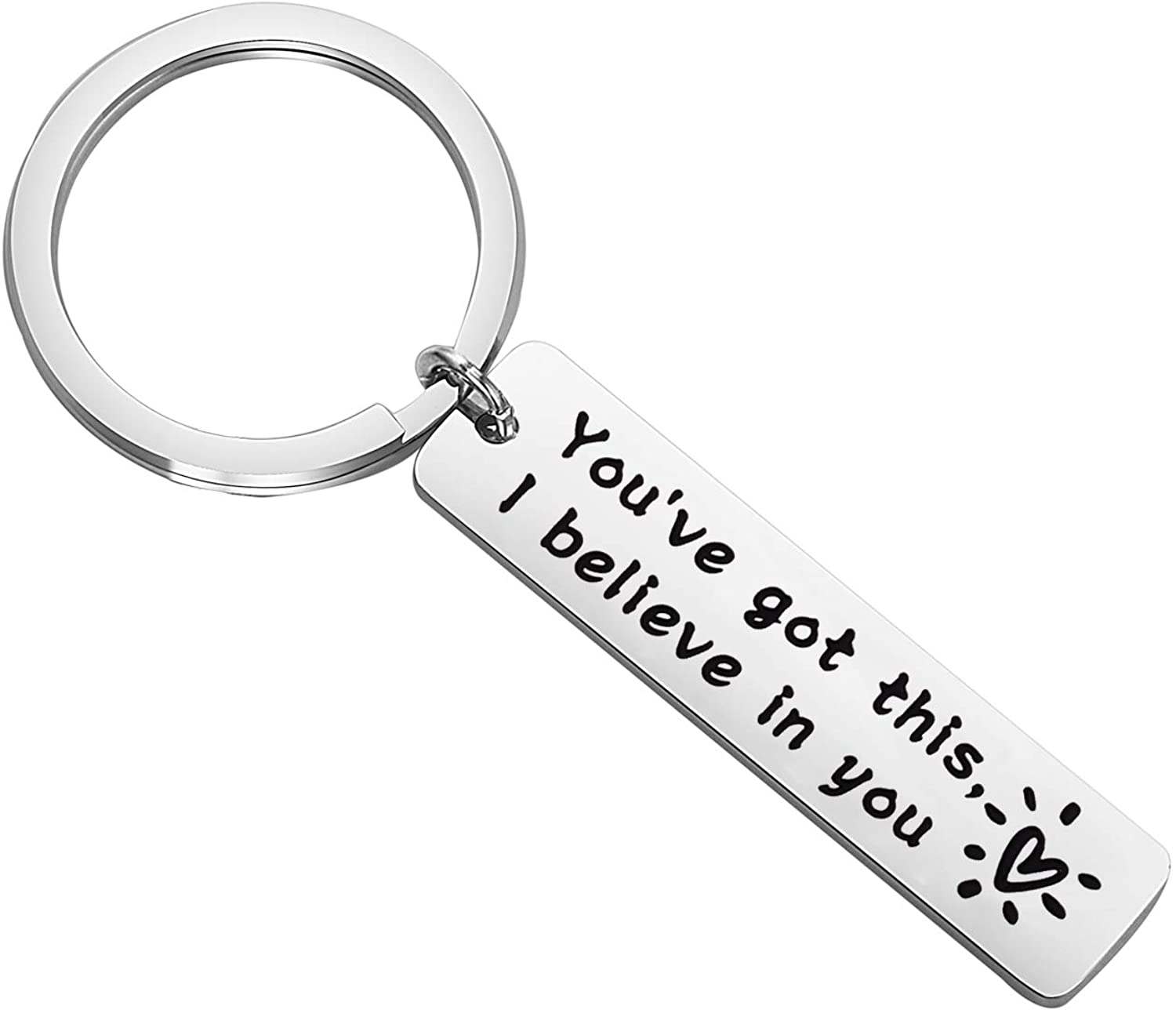 BNQL I Believe in You Keychain You Have Got This Keychain Inspirational Sobriety Gift