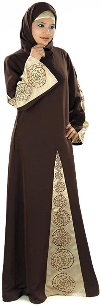 MyBatua Women's Samah Abaya Detailed with Satin