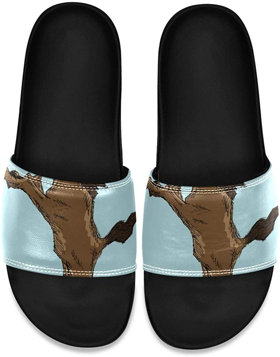 YQINING Mens Shower Slides French Bulldog Slide Sandal, Slippers, Sandals for Men
