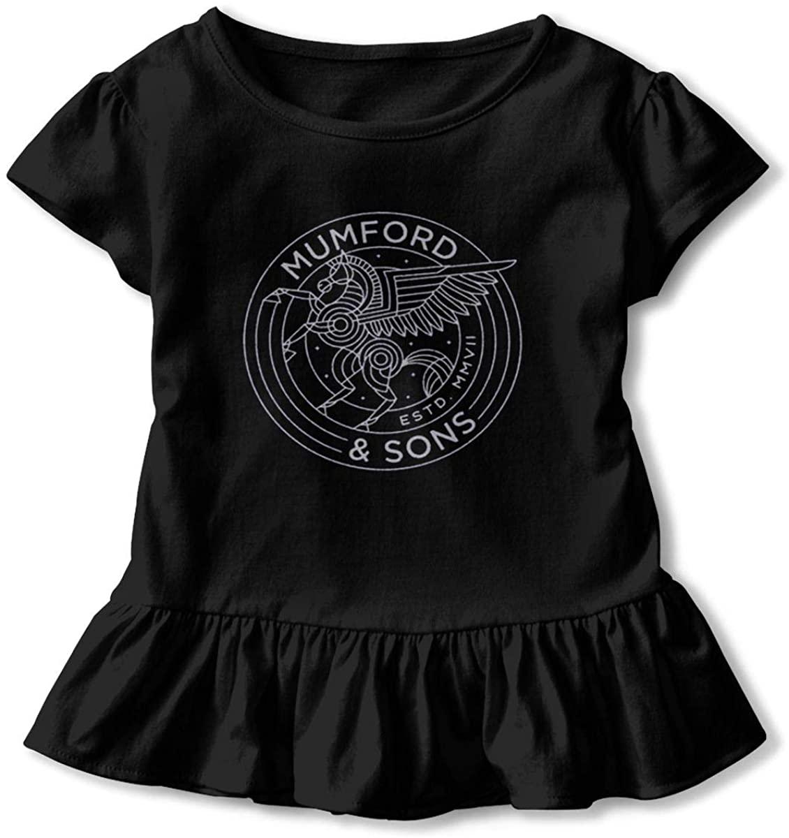 AP.Room Little Girls Cotton Casual Print Short Sleeve Skirt Mumford & Sons Dresses 2-6tblack