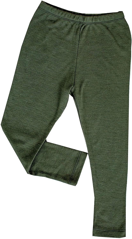 GREEN ROSE Kids Leggings Boy Girl Tights Children Base Layer 100% Natural Merino Wool