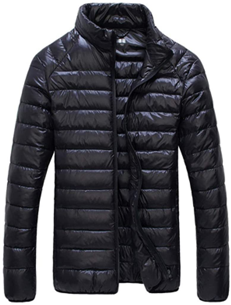 HiiWorld Autumn Winter Puffer Duck Down Jacket Ultra Light Men 90% Coat Waterproof Down Parka Fashion Collar Outerwear