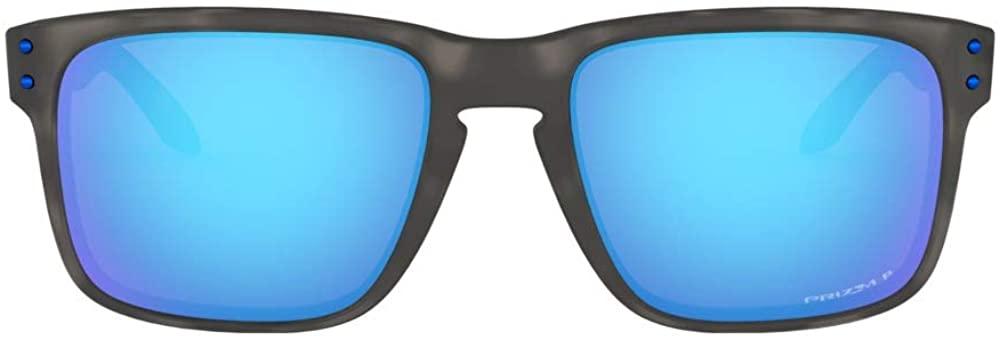 Oakley Holbrook Asian Fit (Matte Black Tortoise Frame, Prizm Sapphire Polarized Lens) with Oakley Ellipse O Hard Case in Green CAMO Large