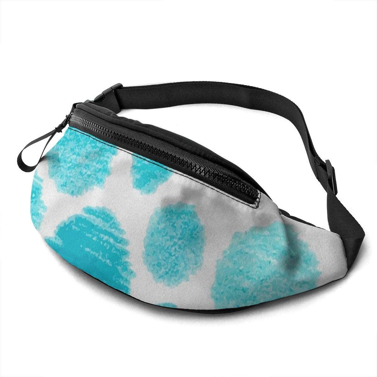 blue spots Fanny Pack for Men Women Waist Pack Bag with Headphone Jack and Zipper Pockets Adjustable Straps