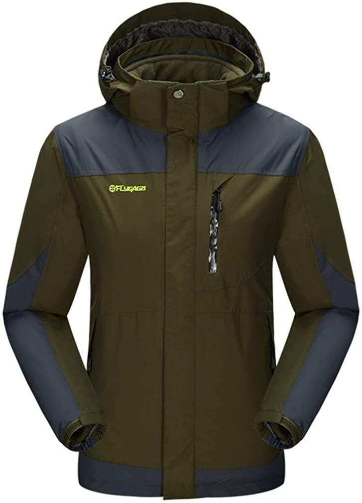 BOSOZOKU Mens 3in1 Windproof Waterproof Sport Jacket Outdoor Hiking Camping Winter Skiing Snowboard Coat