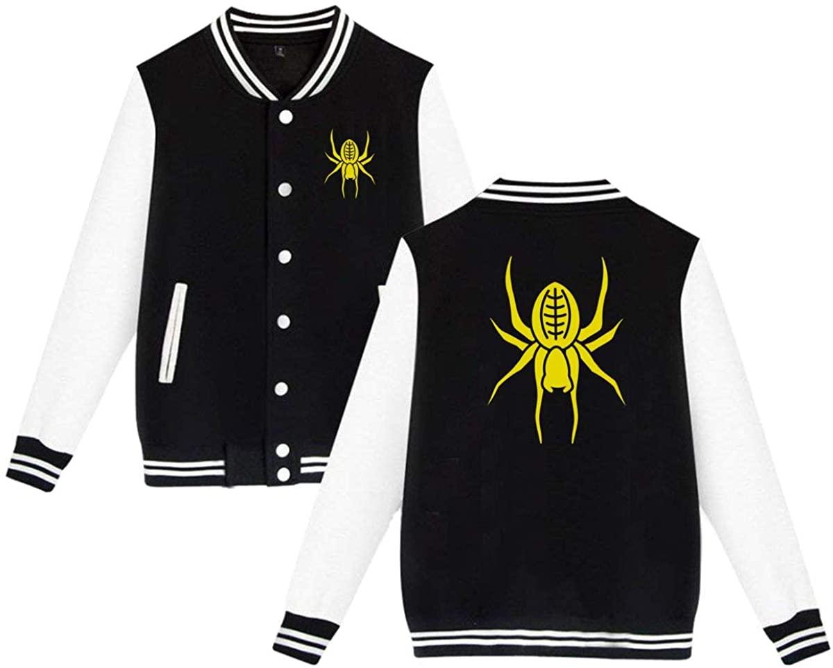 MOCSTONE Unisex Varsity Jacket Spider Baseball Letterman Jackets Sport Coats
