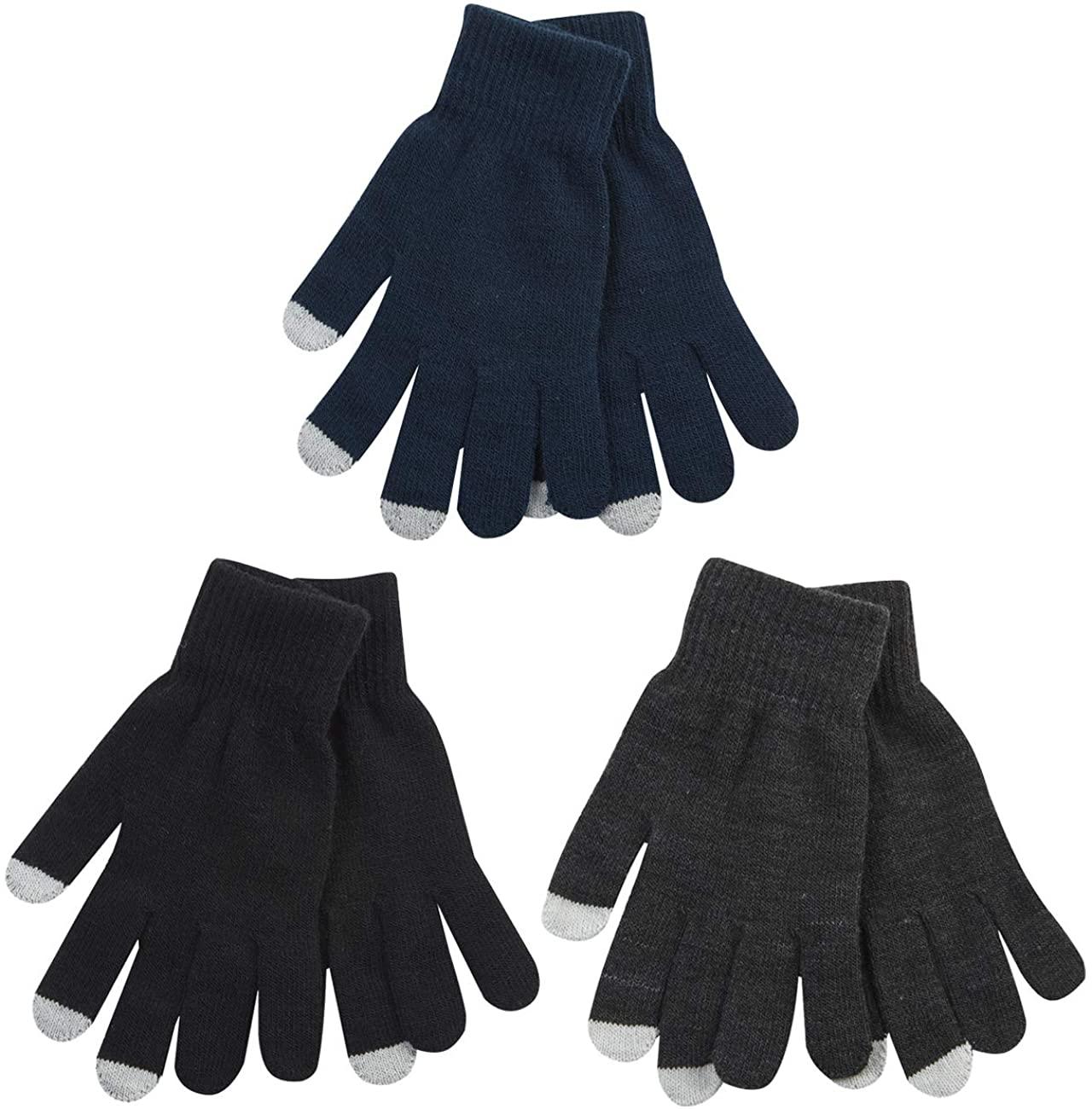 Metzuyan Mens Touch Screen Texting Gloves Winter Warm Knit