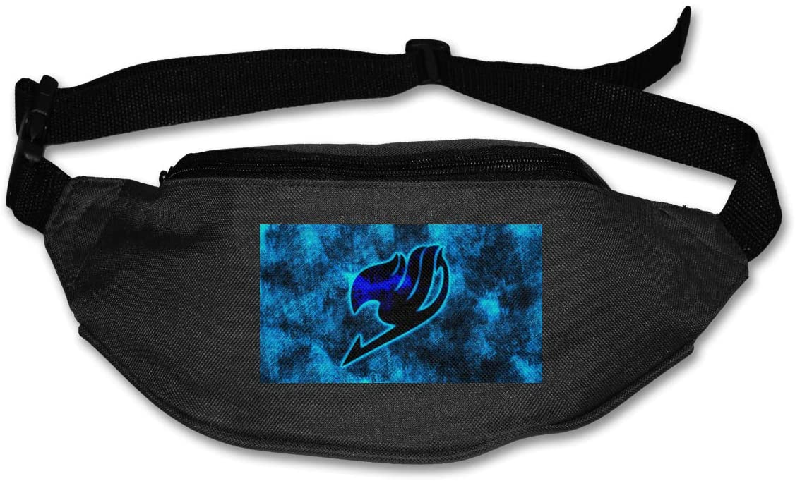 TeriDDeas Fairy Tail Logo Unisex Best Combo Fanny Pack Waist Bag Phone Holder Adjustable Running Belt for Cycling,Hiking,Gym