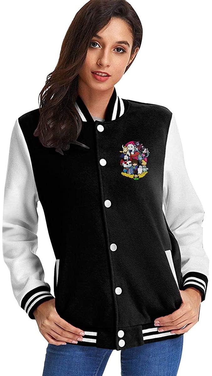 U-N-D-E-R-T-A-L-E Baseball Slim Fit Uniform Women's Fleece Baseball Jacket Sweater Coat