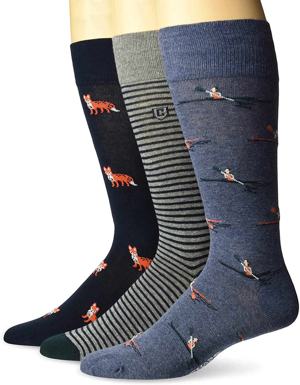 Chaps Men's Novelty Crew Socks (3 Pack)