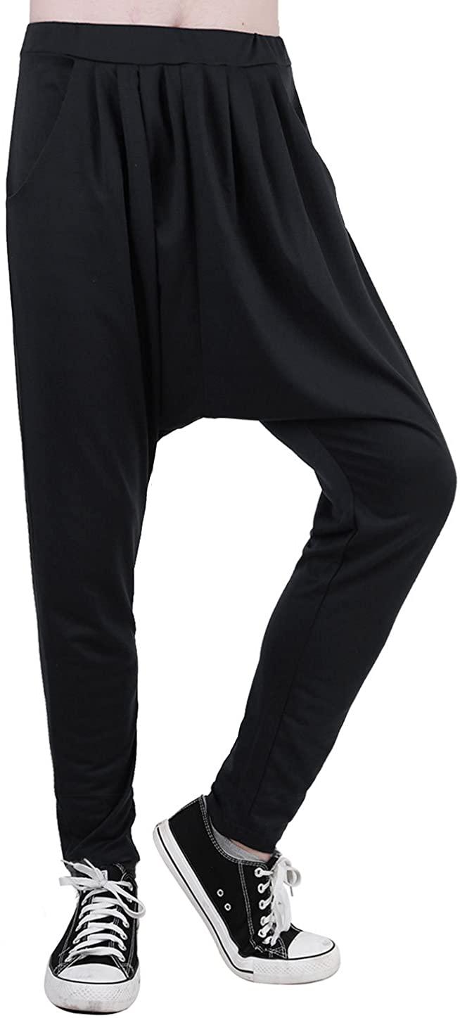 uxcell Men Drop Crotch Hip Hop Parachute Hammer Baggy Harem Pants