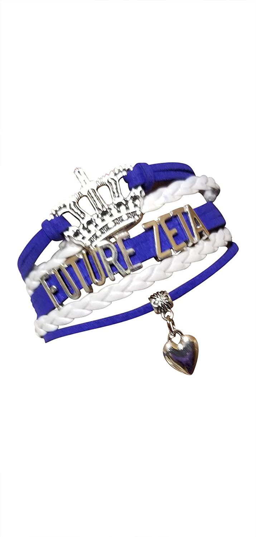 Greekin' It Zeta Phi Beta Sorority   Future Zeta Girls Charm Bracelet   Sorority Paraphenalia