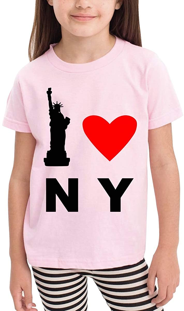 I Love New York 100% Cotton Toddler Boys Girls Kids Short Sleeve T Shirt Top Tee Clothes