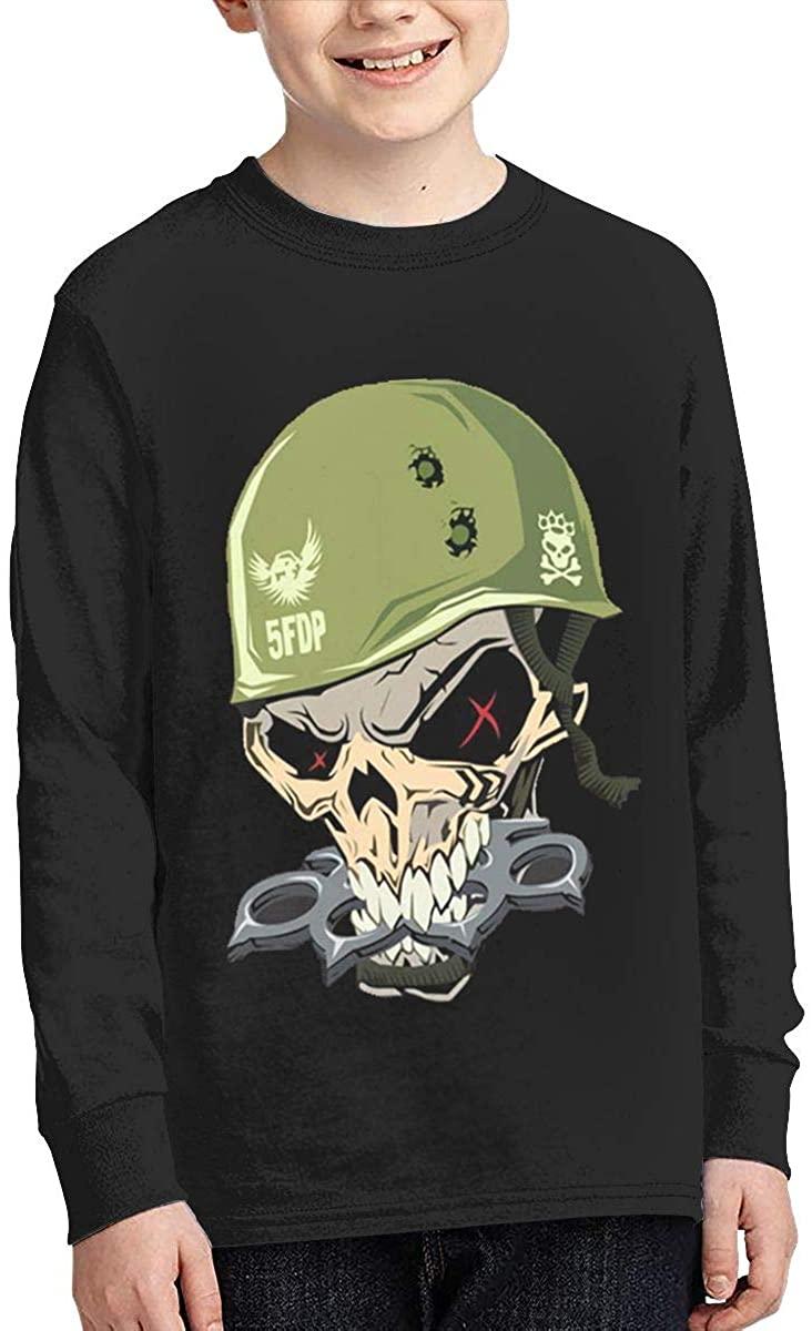 Boy Girl Teen Long Sleeve T-Shirt Five Finger Death Punch Exquisite Fashion Creation Black