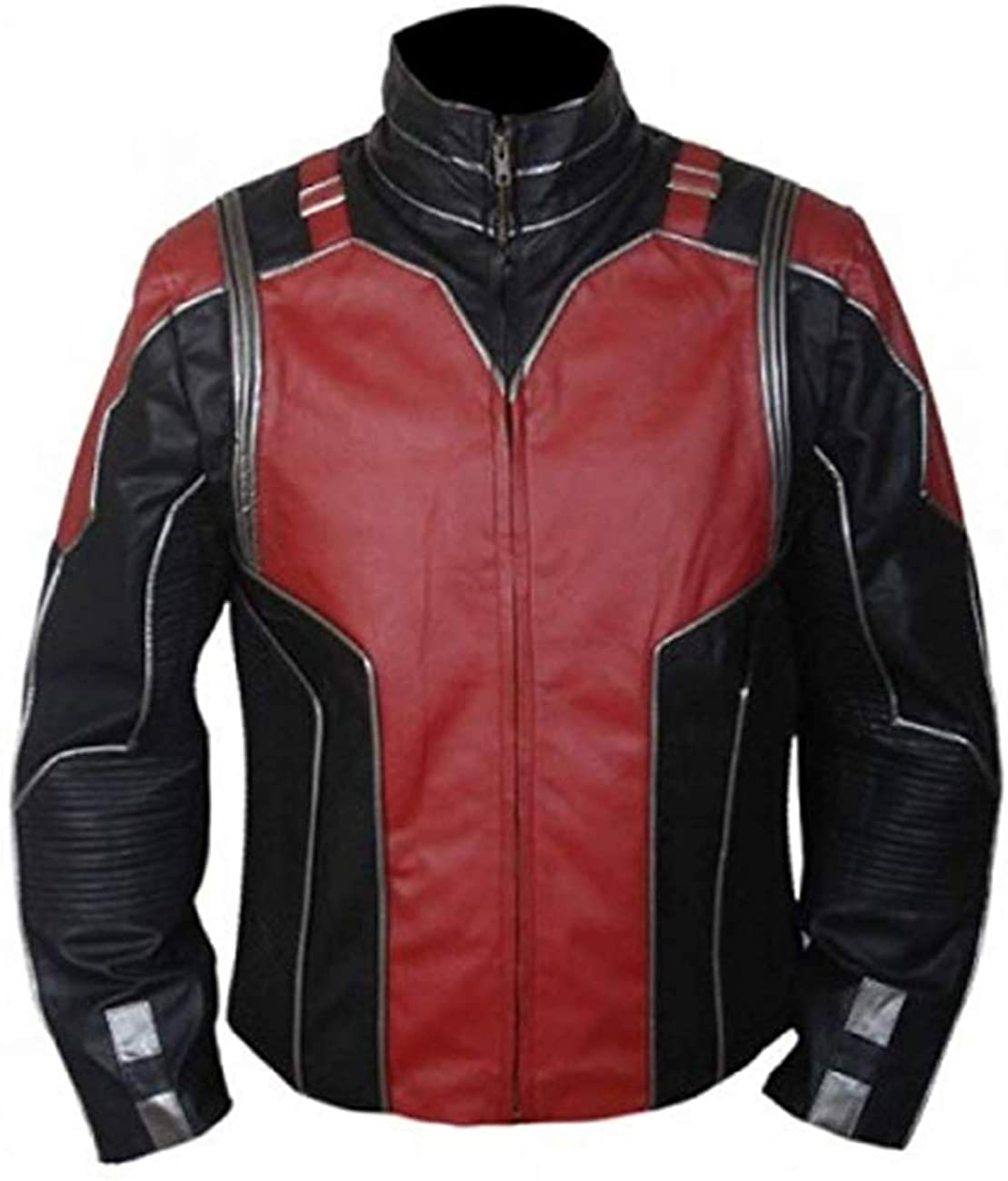 Ant Red & Black Superhero Movie Synthetic Leather Jacket Men's