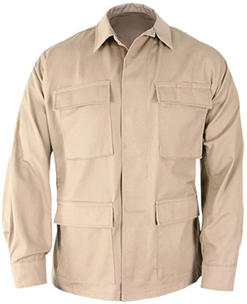 Propper Uniform BDU Coat Regular Length 60/40 Cotton/Polyester Ripstop Khaki LR