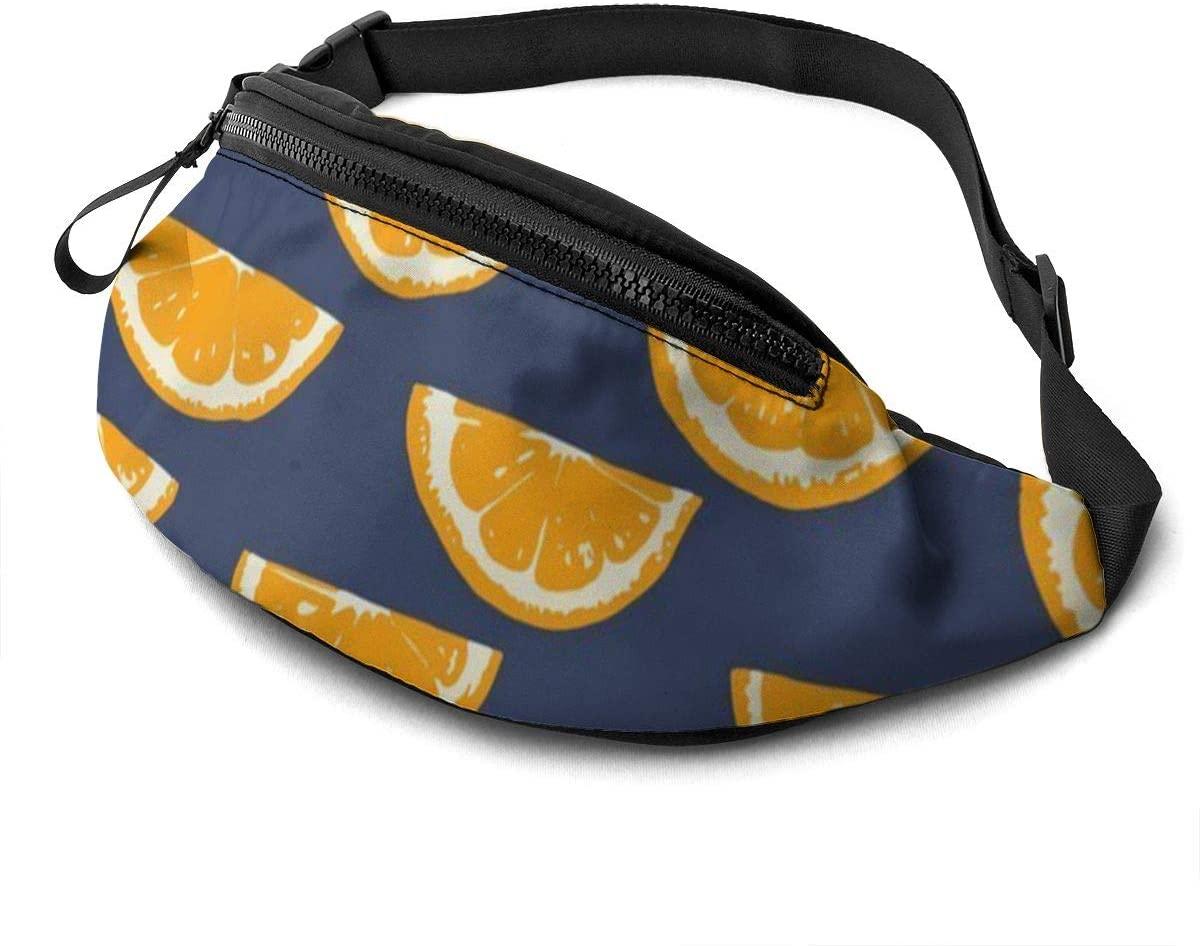 Summer Citrus Fanny Pack for Men Women Waist Pack Bag with Headphone Jack and Zipper Pockets Adjustable Straps