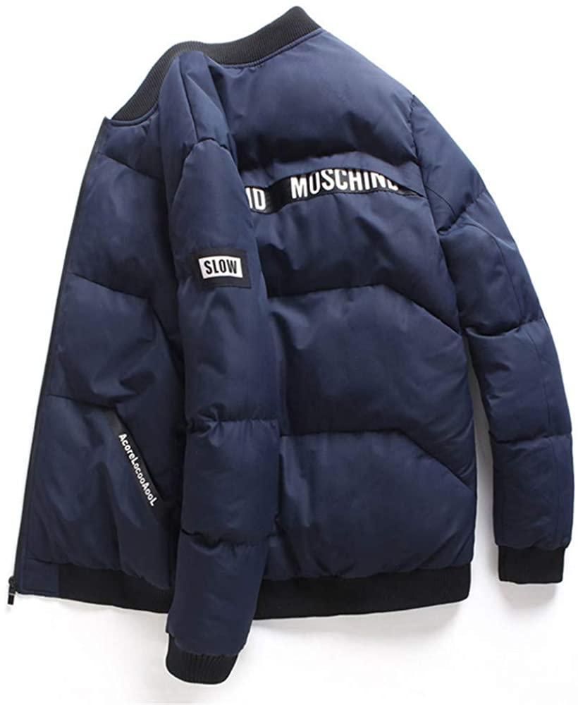 TIMAGE Men's Stand Collar Casual Baseball Uniform Coat Men's Slim Coat!