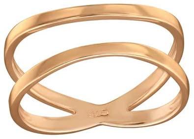Caratera Crisscross Plain Rings 925 Sterling Silver