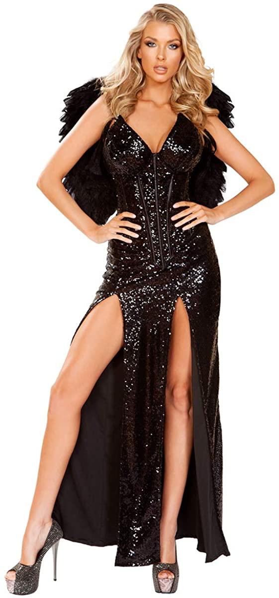 Musotica Sexy Dark Angel Corset and Skirt Costume