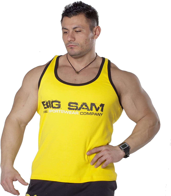 BIG SAM SPORTSWEAR COMPANY Bodybuilding Men's Muscleshirt Tanktop T-Back Tee Tank Stringer 2077