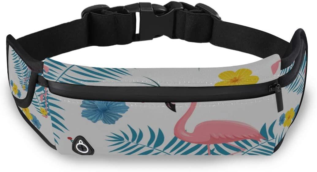 Flamingo Pink Fashion Accesories Lightweight Waist Pack Travel Bag Men Travel Bag Organizer With Adjustable Strap For Workout Traveling Running