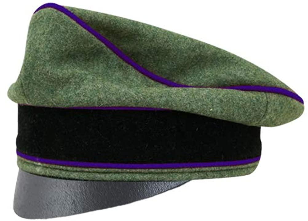 WW2 German Waffen Elite Wool Chaplains Crusher Cap Small Visor