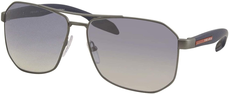 Prada PS51VS Sunglasses DG11J0-62 -, Grad Light Blue Mirror Silver PS51VS-DG11J0-62