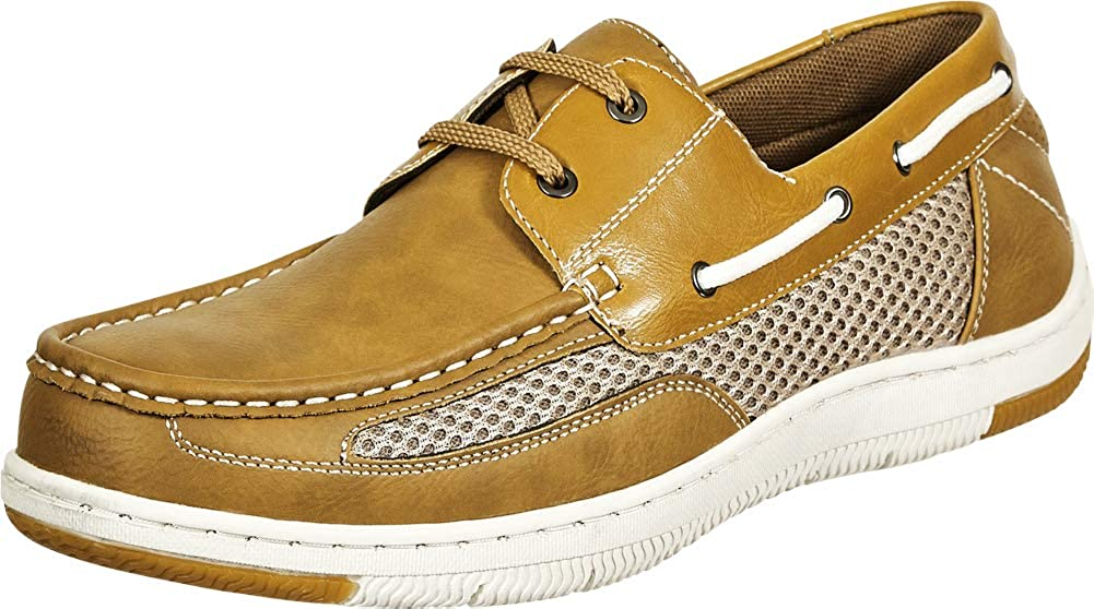 Cambridge Select Men's Padded Comfort Lace-Up Boat Driving Moccasin Loafer