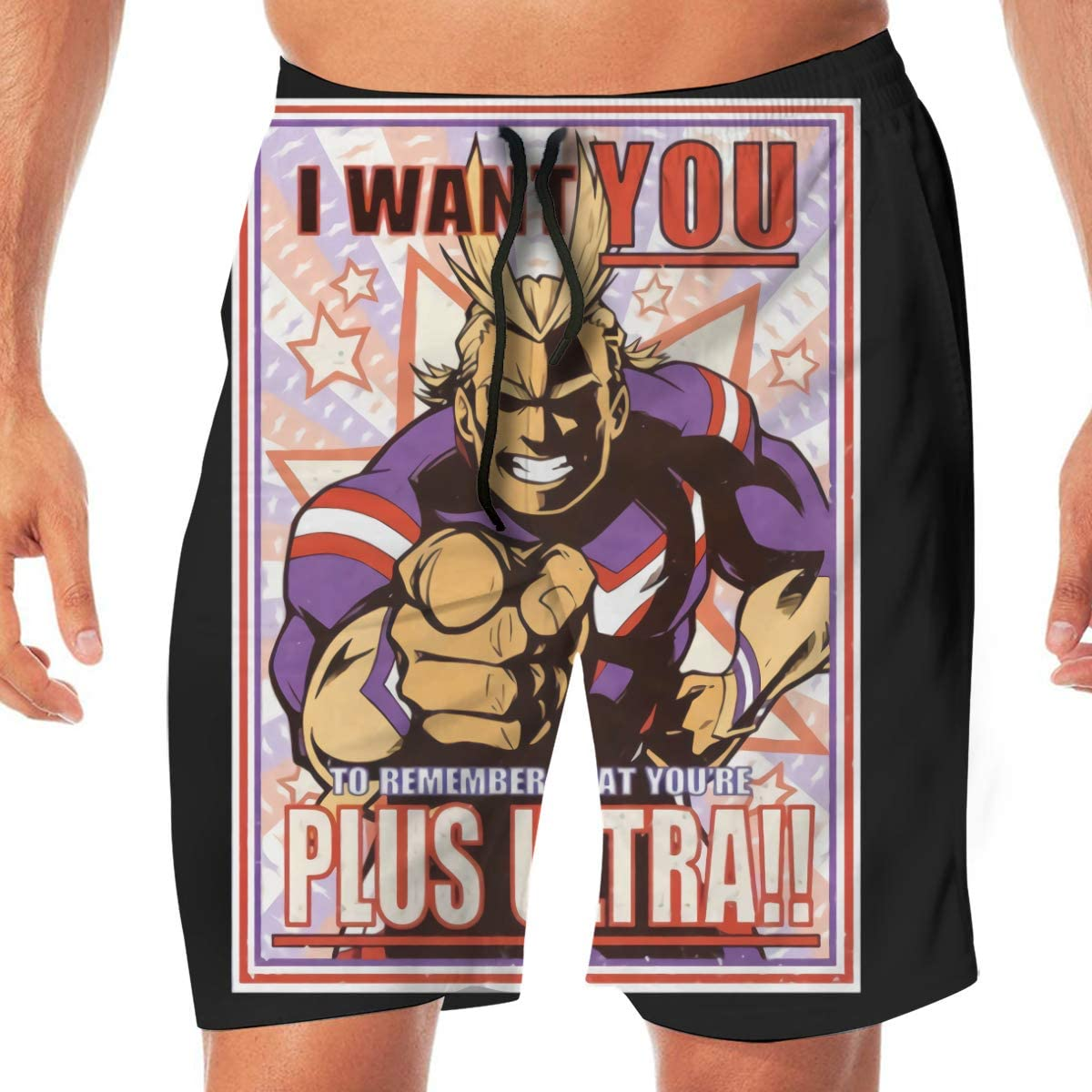 Plus Ultra Gym All Might My Hero Academia Anime Quick DrySwim Trunks Water Shorts Swimsuit Beach Shorts
