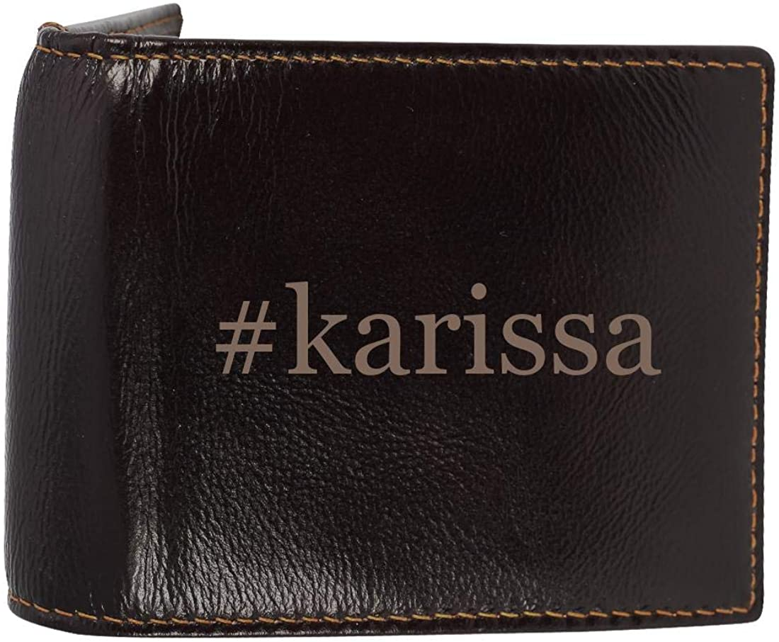 #karissa - Genuine Engraved Hashtag Soft Cowhide Bifold Leather Wallet