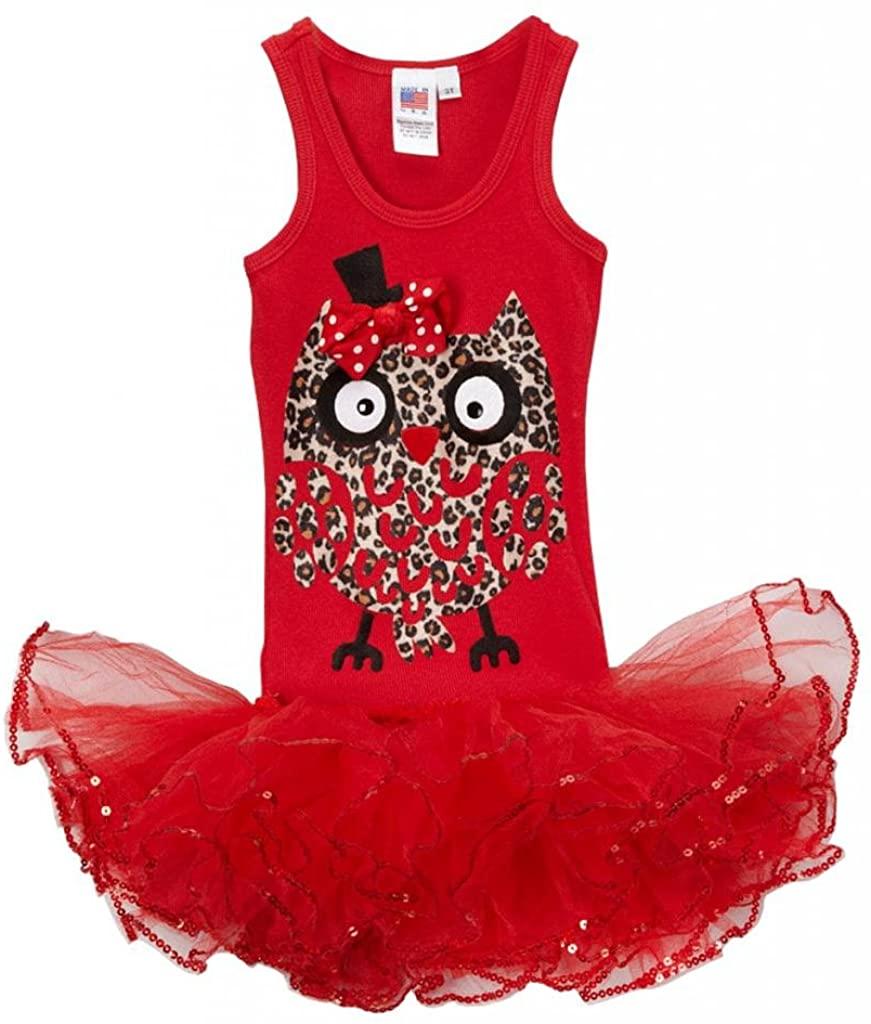 Bubblegum Divas Little Girls Big Owl Tutu Skirt 2-Piece Set Outfit