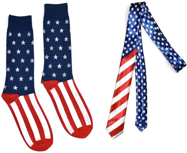 Bop Classy Men's Novelty Accessory Set - Matching Crew Socks & Tie