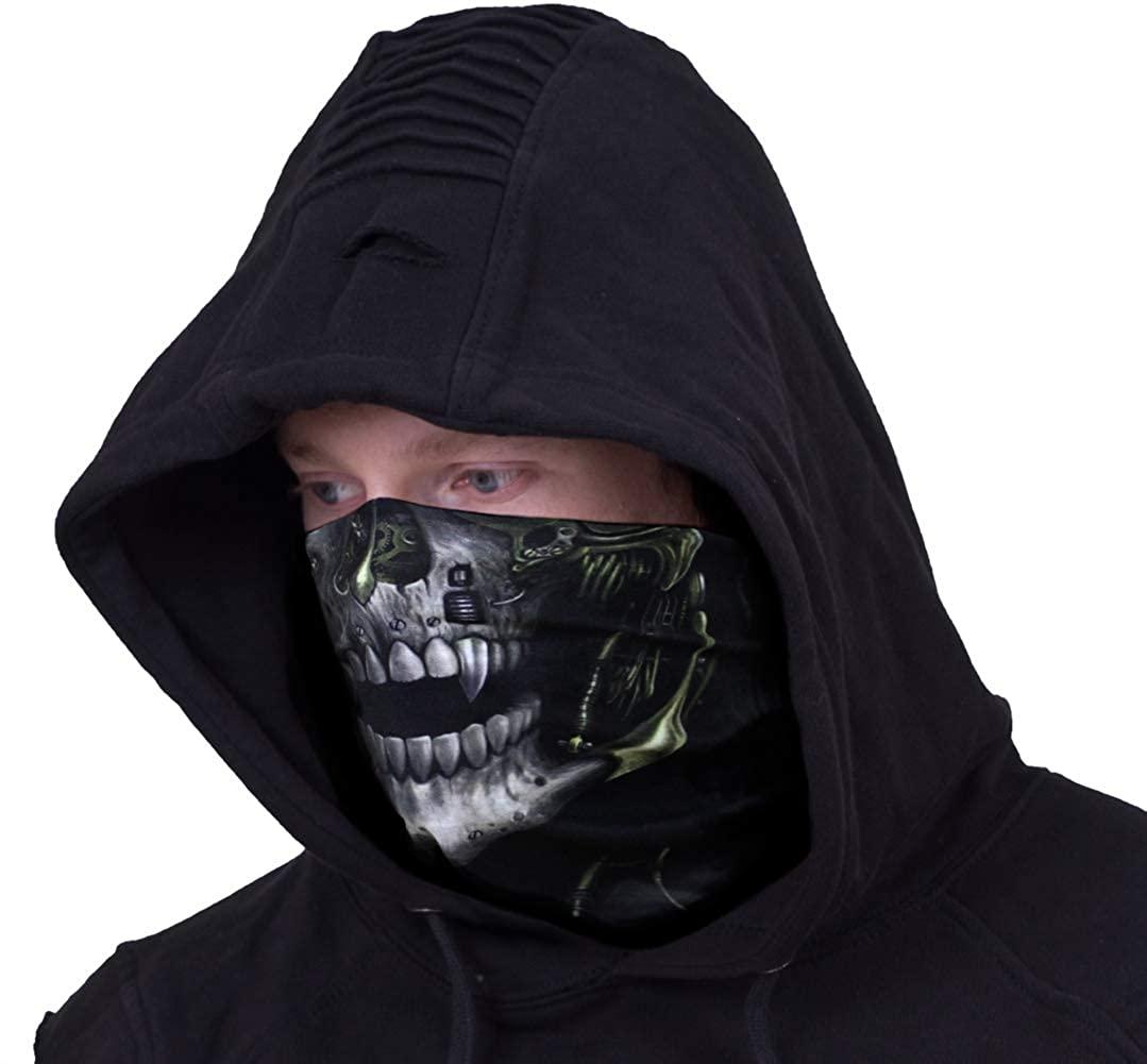 Spiral - Steam Punk Reaper - Multifunctional Face Wraps Black