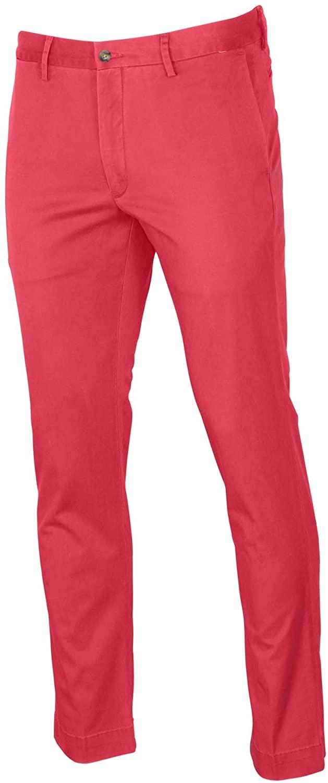 Polo RL Men's Stretch Slim Fit Chino Pants-Nantkt Red-31 X 30