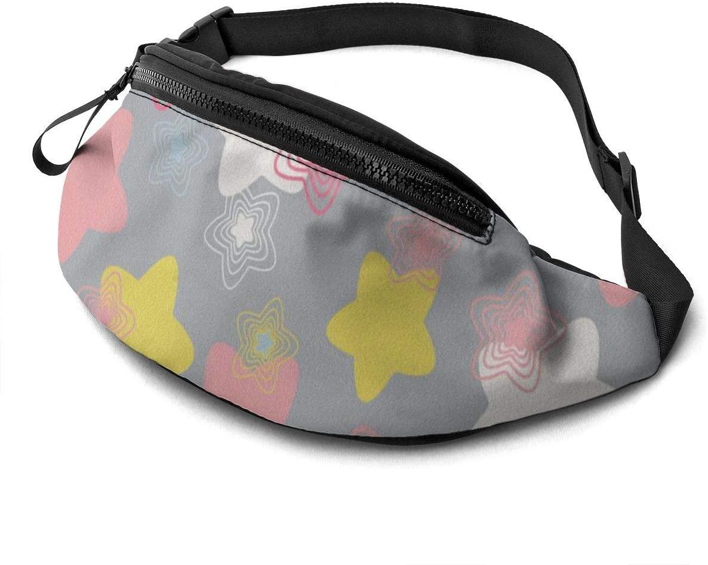 Pentagram Fanny Pack for Men Women Waist Pack Bag with Headphone Jack and Zipper Pockets Adjustable Straps