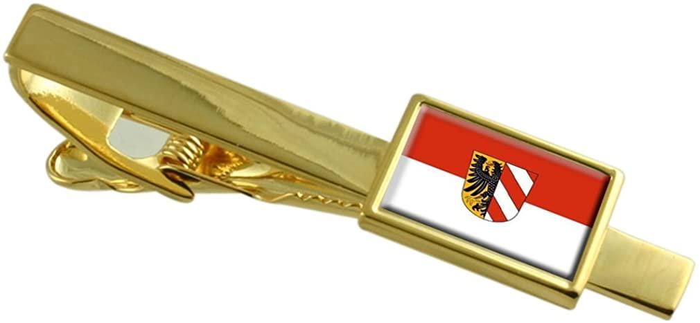 Nuremberg City Germany Flag Gold-tone Tie Clip
