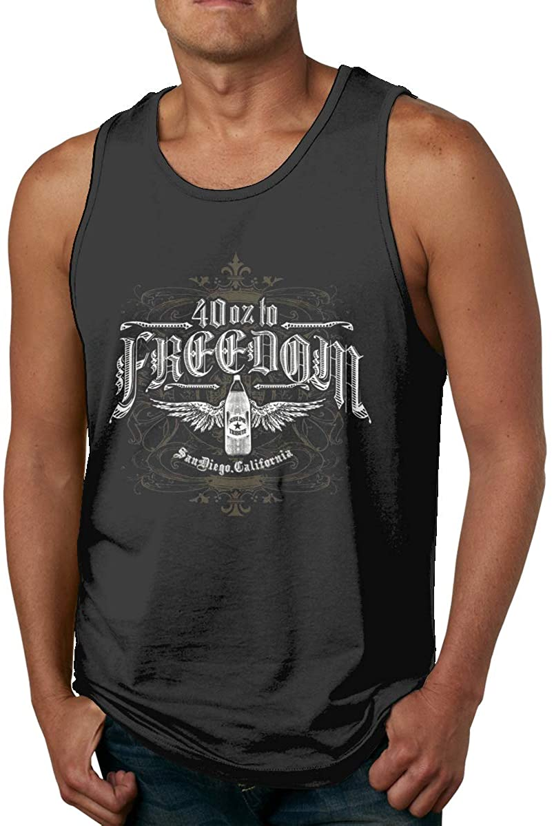 Gjfauehf Sublime 40 Oz to Freedom Mens Men's Cotton Tank Top Shirt,Worn Outside Or Inside