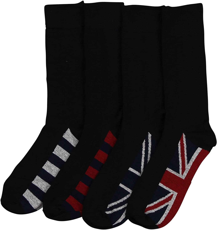 Men's Active Dress Socks 4-Pack