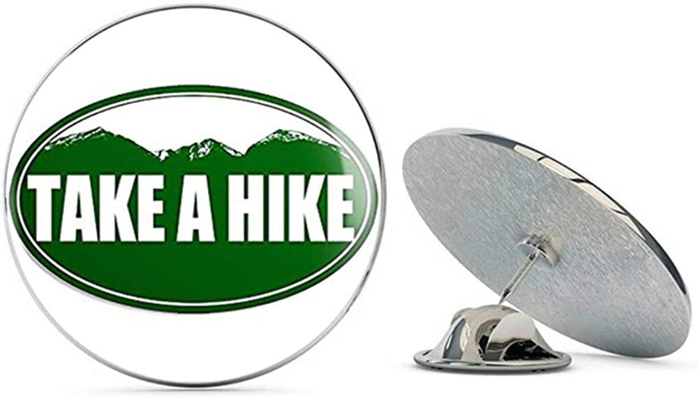 NYC Jewelers Green Oval TAKE A Hike (Funny Hiking Mountains) Metal 0.75