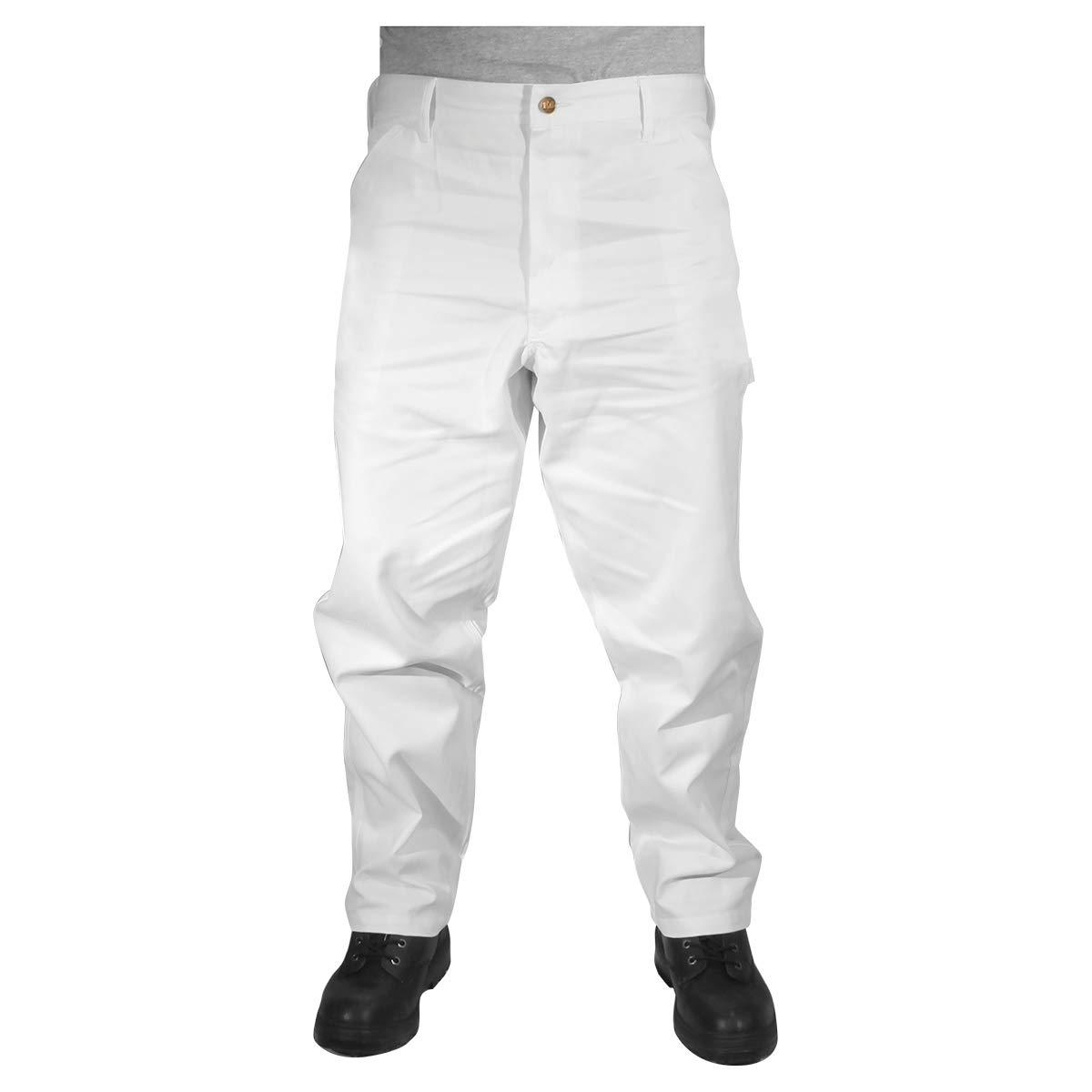 Rugged Blue CSGPTWP1000025167-WHT-38X30 Painters Pants, English, Cotton, 38 x 30 White