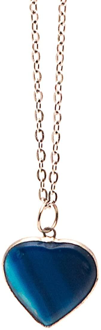 Frogsac Semi-Precious Stone with Silver Chain Necklace I