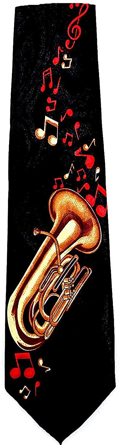 Tuba with Music Notes Tie