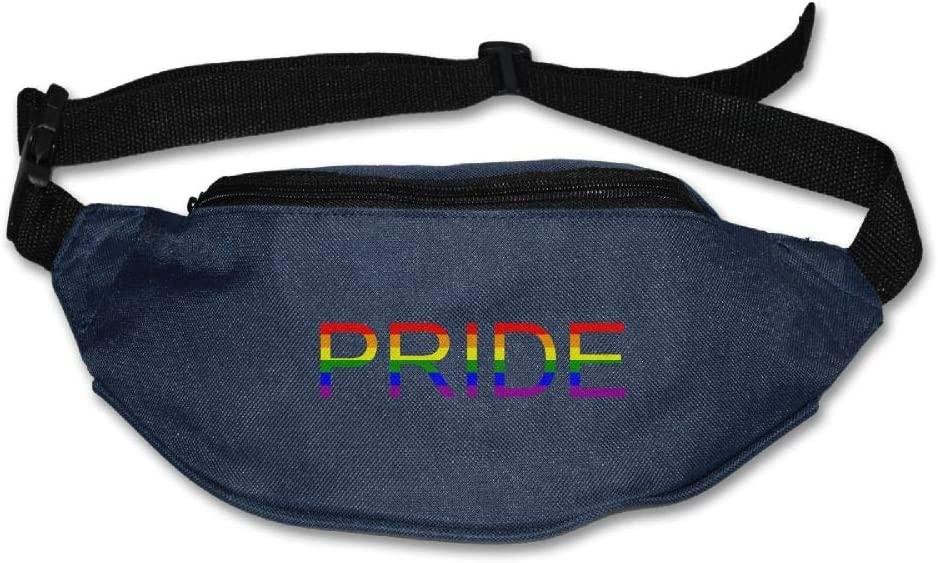 Fanny Bag LGBT Gay Pride Flag Unisex Fashion Waist Pack Bag with Adjustable Strap