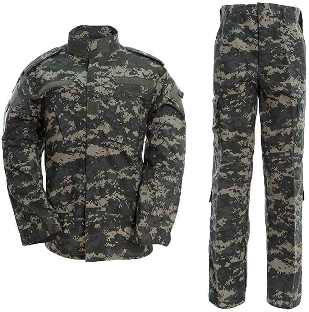 AKARMY Unisex Lightweight Military Camo Tactical Camo Hunting Combat BDU Uniform Army Suit Set MCF ACU