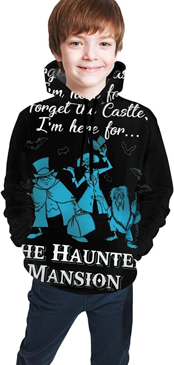 Forget The Castle I'm Here for The Haunted Mansion Good Looking Teen 3D Hooded Sweate Jacket Boy and Girl