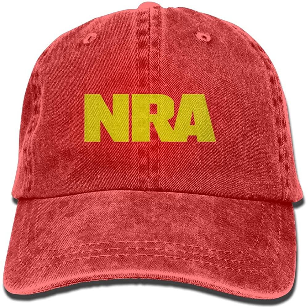 KWISISI NRA National Rifle Association Unisex Embroidered Cowboy Cap Personalized Vintage Hat
