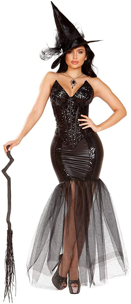 Musotica Sexy Sabrina Witch Corset and Skirt Costume